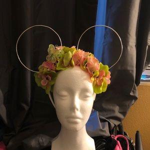 Wire Pink Flower Mickey Ears